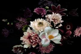 120 x 80 cm - Glasschilderij - schilderij fotokunst - stilleven bloemen - foto print op glas --