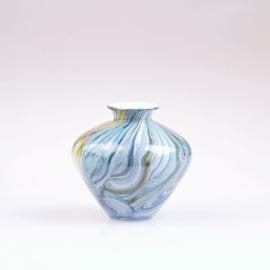 Design vaas Fidrio - Belly Fine Lines - gekleurd glas - mondgeblazen - 23 cm hoog --