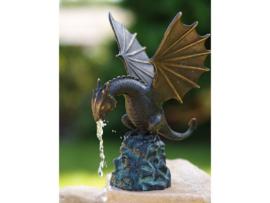 Beeld brons - Tuinbeeld - Beeld Draak - Bronzartes - 22 cm hoog - voor huis en tuin