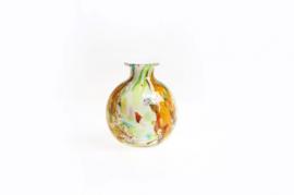 Design vaas Fidrio - glas kunst sculptuur - antique - Mixed colours - mondgeblazen - 19 cm hoog --