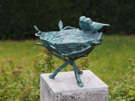 Tuinbeeld - bronzen beeld - Vogelbad - Bronzartes - 29 cm hoog