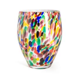 Design vaas Fidrio - Oval Candy - gekleurd glas - mondgeblazen - 25 cm hoog --