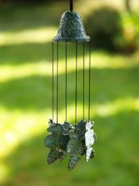 Windgong - windklokken - bronzen blaadjes