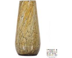 Design vaas Gloriosa - Fidrio DESSERT - glas, mondgeblazen bloemenvaas - hoogte 22 cm --