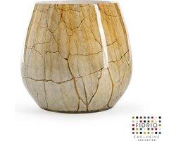 Design vaas Fiore - Fidrio DESERT - glas, mondgeblazen bloemenvaas - hoogte 22 cm