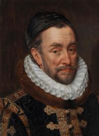 60 x 90 cm - Glasschilderij - schilderij - Willem van Oranje - met goudfolie - foto print op glas --