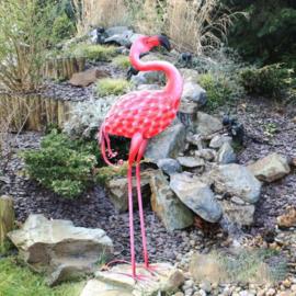 Beeld metaal - Tuinbeeld - beeld Flamingo - 85 cm hoog