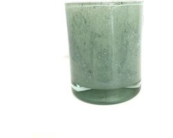 Design vaas Cilinder Moss - Fidrio UNI COLOUR - glas, mondgeblazen bloemenvaas - diameter 16,5 cm hoogte 13,5 cm