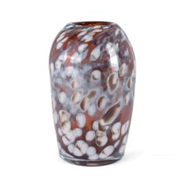 Design vaas Fidrio - glazen sculptuur - hazel - Urban - glas - mondgeblazen - 33 cm hoog