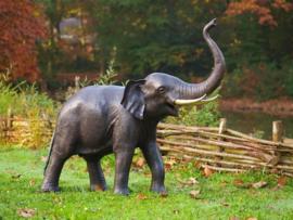 Tuinbeeld - groot bronzen beeld -  olifanten - Bronzartes