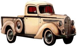 50 x 30 - Wanddecoratie metaal oldtimer - Auto pick-up truck