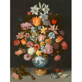 80 x 120 - Schilderij Dibond - Stilleven - Bloemenvaas - Mondiart