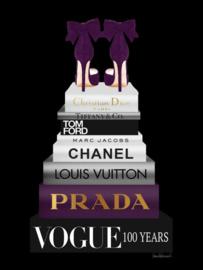 60 x 80 cm - Glasschilderij - schilderij - Prada - Vogue - foto print op glas