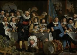 Schilderij Dibond - Fragment van Schuttersmaaltijd - Bartholomeus van der Helst