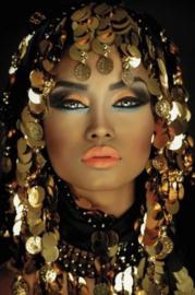 80 x 120 cm - Glasschilderij - schilderij - Arabian Princess - foto print op glas