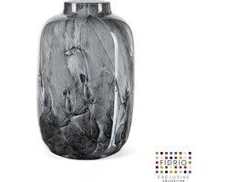 Design vaas Toronto Large - Fidrio NERO - glas, mondgeblazen bloemenvaas - hoogte 27 cm