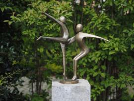 Tuinbeeld brons - beeld Moderne dans - Bronzartes