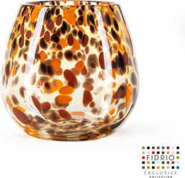 Design vaas Fiore - Fidrio Havanna - Bloemenvaas glas, mondgeblazen - hoogte 22 cm --