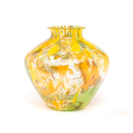 Design vaas Fidrio - glas kunst sculptuur - Botanic - Belly - mondgeblazen - 23 cm hoog
