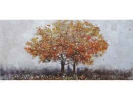 120 x 55 cm - Olieverf schilderij - schilderij bomen - herfst - natuur handgeschilderd