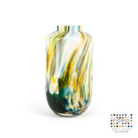 Design vaas Fidrio - glas kunst sculptuur - Nova - colori - mondgeblazen - 32 cm hoog --