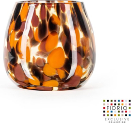 Design vaas Fiore - Fidrio Havanna - glas, mondgeblazen bloemenvaas - hoogte 12 cm --
