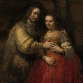 Schilderij Dibond - Het Joodse Bruidje