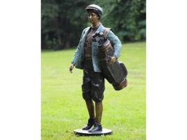 Tuinbeeld - groot bronzen beeld - Golfspeler - Bronzartes