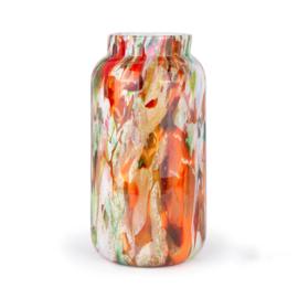 Design vaas Fidrio - glazen sculptuur - Mixed Colours - Bloom - glas - mondgeblazen - 41 cm hoog