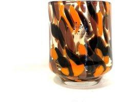 Design vaas Cilinder - Fidrio HAVANNA - glas, mondgeblazen bloemenvaas - diameter 9 cm hoogte 11 cm