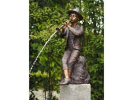 Tuinbeeld - bronzen beeld - klarinettist