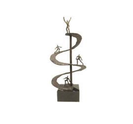 Beeld brons - sculptuur - figuur - positieve spiraal - 39 cm hoog - Martinique