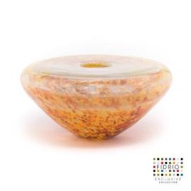 Design vaas Fidrio - glas kunst sculptuur - splash - Lava - mondgeblazen - 20 cm rond