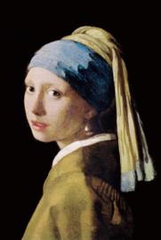 80 x 120 cm - Glasschilderij - schilderij fotokunst - Meisje met de Parel - foto print op glas --