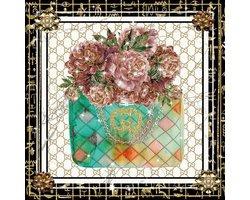 80 x 80 cm - Handtas van Gucci - Glasschilderij - Brands & Fashion