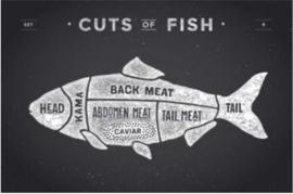 Plexiglas Schilderij - Vis Eten