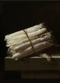 80 x 120 cm - Plexiglas klassiek schilderij - Stilleven met Asperges - klassieke kunst afbeelding op acryl - oude meesters!