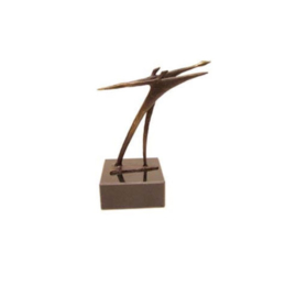 Beeld brons - sculptuur - figuur - beeld target - 14 cm hoog - Martinique