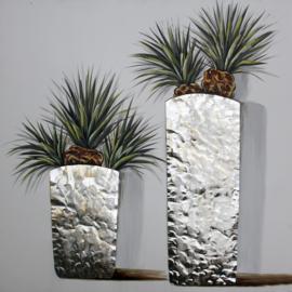 80 x 80 cm - Olieverfschilderij - Huis planten - handgeschilderd