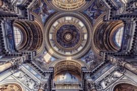 120 x 80 cm - Glasschilderij kerk - schilderij fotokunst - Basiliek - foto print op glas