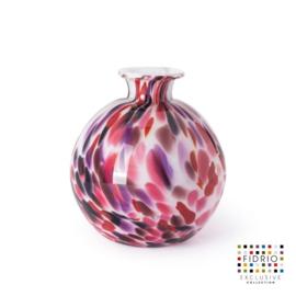 Design vaas Fidrio - glas kunst sculptuur - bolvase - Sensation - mondgeblazen - 19 cm diep
