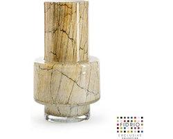Design vaas Nuovo - Fidrio DESERT - glas, mondgeblazen bloemenvaas - diameter 10 cm hoogte 25 cm