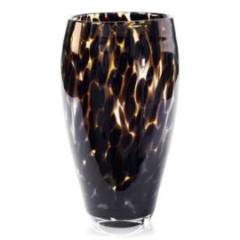 xxx Design vaas Fidrio - glas kunst sculptuur - Leppard - Oval - mondgeblazen -  30 cm hoog