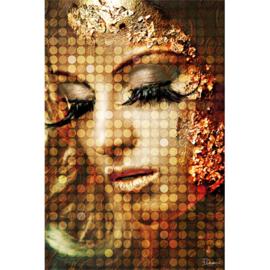 120 x 80 cm - Schilderij Dibond - Foto op aluminium - Vrouw vintage - fotokunst - Mondiart