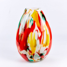 Design vaas Fidrio - glas kunst sculptuur - fiorito - mondgeblazen - 40 cm hoog