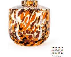 Design vaas Nova - Fidrio Havanna - Bloemenvaas glas, mondgeblazen - hoogte 23 cm