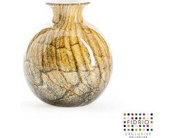 Design vaas Bolvase With Neck - Fidrio DESERT - glas, mondgeblazen bloemenvaas - diameter 11 cm --