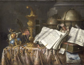 Plexiglas klassiek schilderij - Vanitas Stilleven - 120 x 80 cm