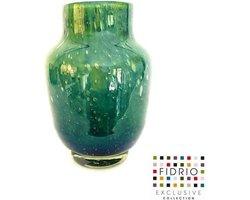 Design vaas pearl - Fidrio AMAZONE - glas, mondgeblazen bloemenvaas - diameter 14 cm hoogte 20 cm