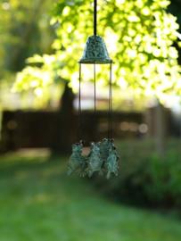 Windgong - windklokken - bronzen kikkers